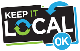 Keep It Local Oklahoma Logo Alarm & Security Business